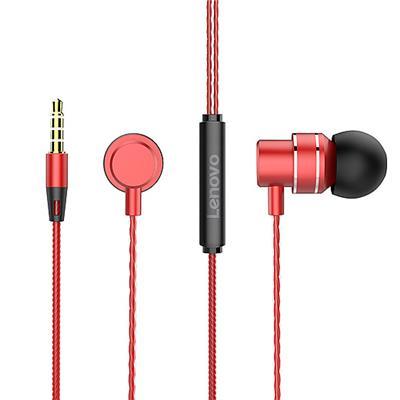 联想金属耳机HF118 红色